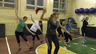 танцевальная аэробика в русском народном стиле