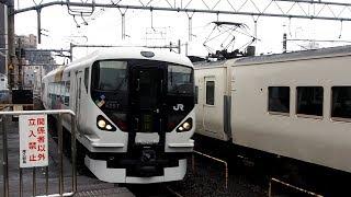 2019/05/21 【団体】 E257系 M-107編成 尾久駅 | JR East: E257 Series M-107 Set at Oku