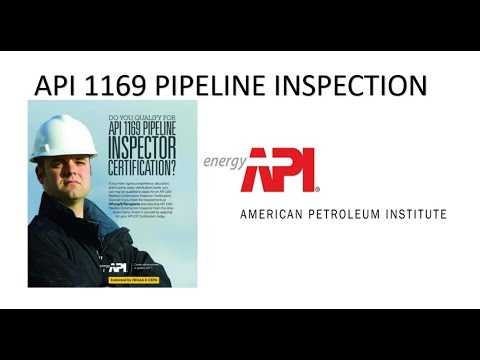 API 1169 Training Courses Online And Onsite Pipeline Inpection