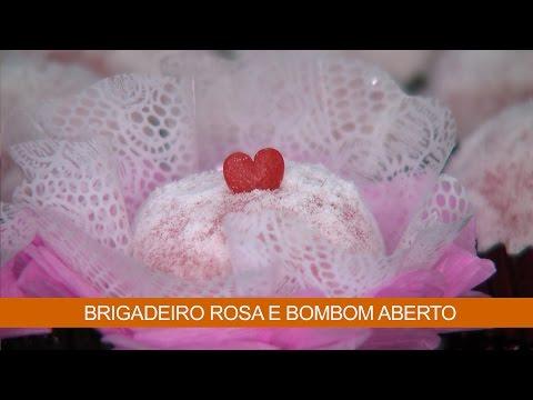 BRIGADEIRO ROSA E BOMBOM ABERTO