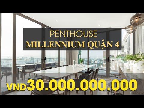 Penthouse Masteri Millennium Quận 4 giá 30 tỷ | Top Penthouse đẹp nhất Sài Gòn