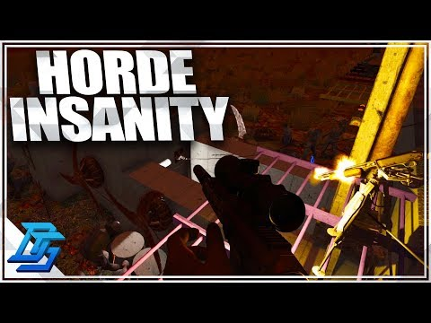 THE MOST INSANE HORDE YET, HORDE NIGHT - 7 Days To Die - S2- Pt. 52 (Alpha 16)
