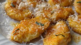 Butternut Mascarpone Gnocchi Recipe - Mascarpone Cheese and Butternut Squash Dumplings