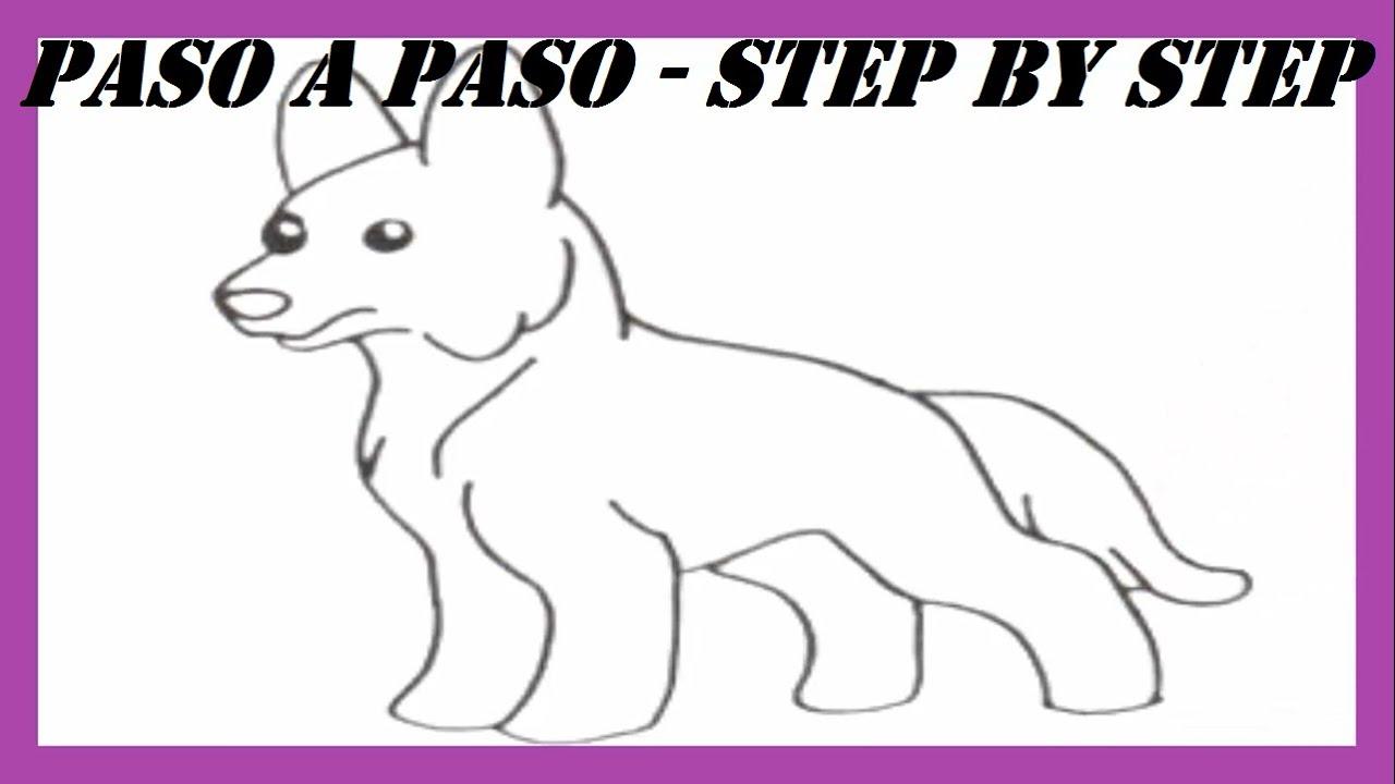 Como Dibujar Un Perro Pastor Alemán L How To Draw A