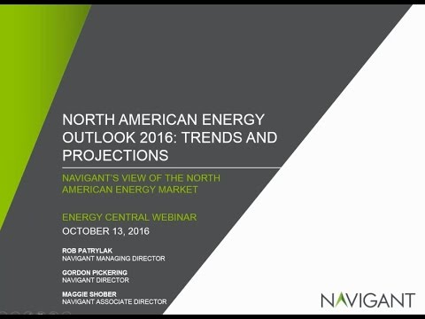 Navigant's Energy Market Outlook and Industry Trends – October 2016