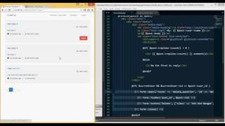 PHP/Laravel - Building a forum like website from scratch (tut 19)