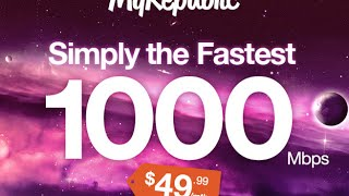MyRepublic 1000 Mbps Home Fast Fibre Broadband Singapore