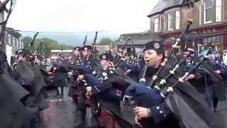 Vale of Atholl Pipe Band Highland Games Parade Pitlochry Perthshire Scotland