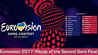 Eurovision 2017: Recap of the Second Semi Final