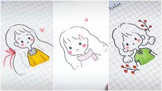 Vẽ hình chibi cute đáng yêu, vẽ tranh dễ thương (P2)