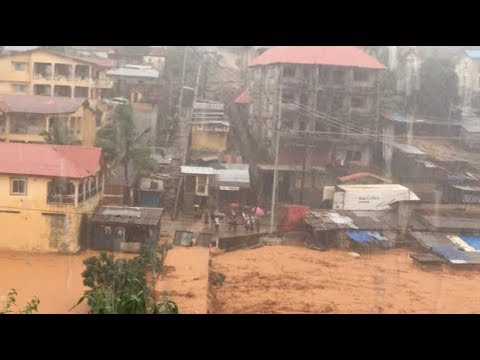 Regent mudslide 2017, mudstreams, floods in Sierra Leone, slumps, disaster, natural hazard