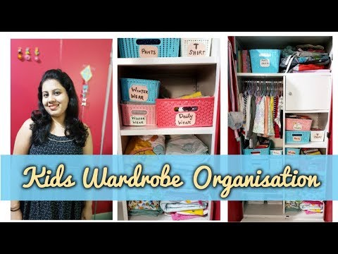 Kids Wardrobe Organization | Kids Closet Organization | Maitreyee's Passion