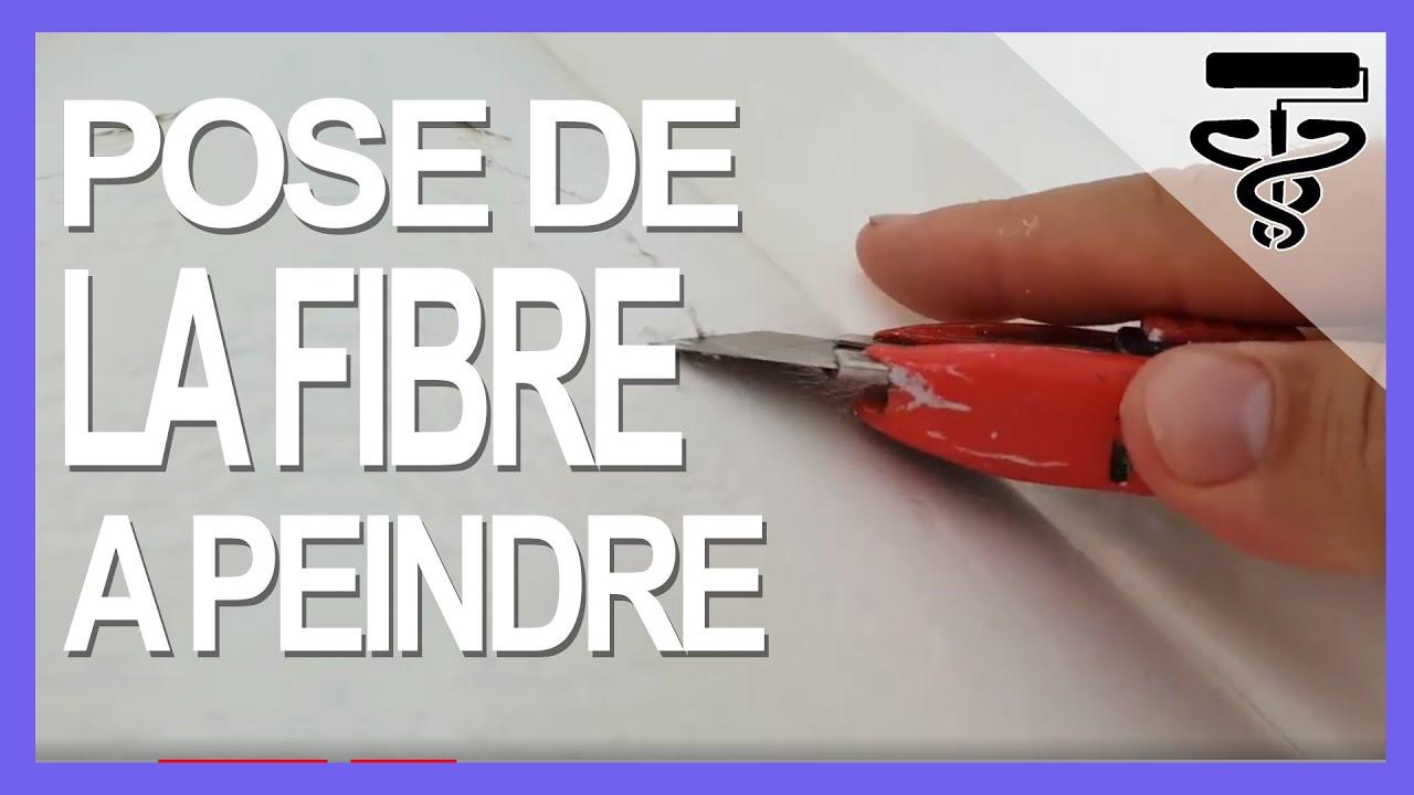 Poser Du Papier Peint A Peindre Youtube