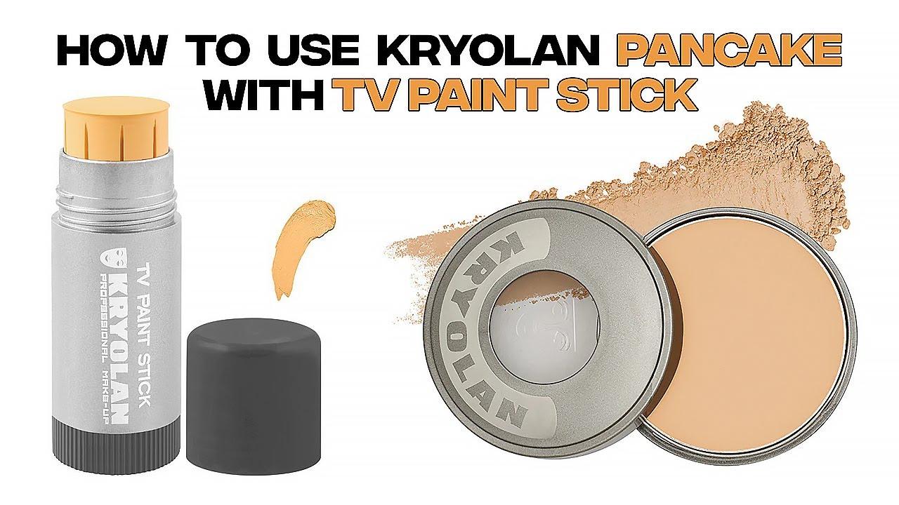 Kryolan Tv Paint Stick par Pan Cake Lganay ka Tariqa Makeup Base Step by Step at home like Parlor