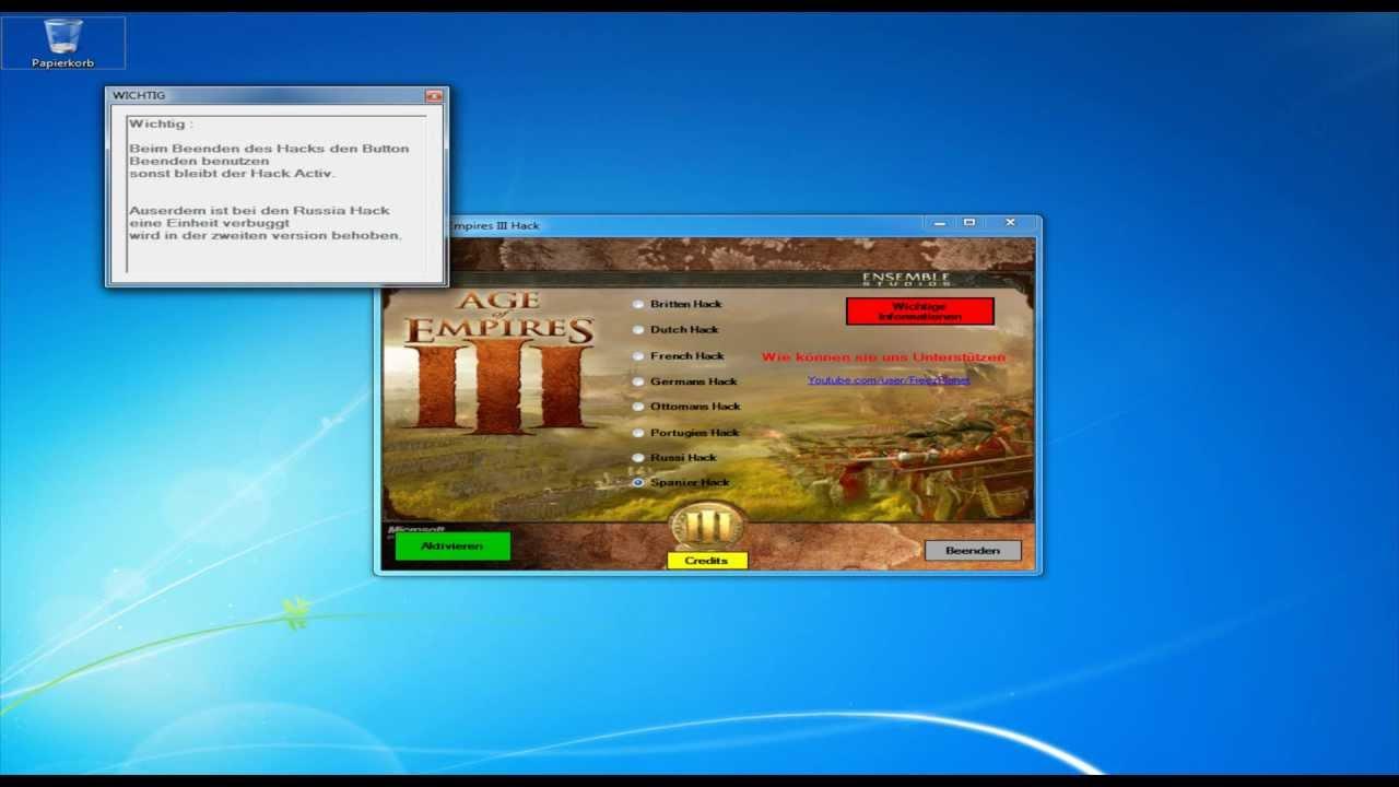 Free Age of Empires 3 Hack Download (AOE3) v1 0