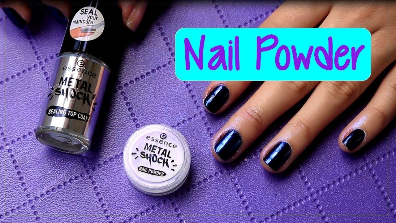 Uñas efecto espejo / Essence Metal Shock nail powder - YouTube