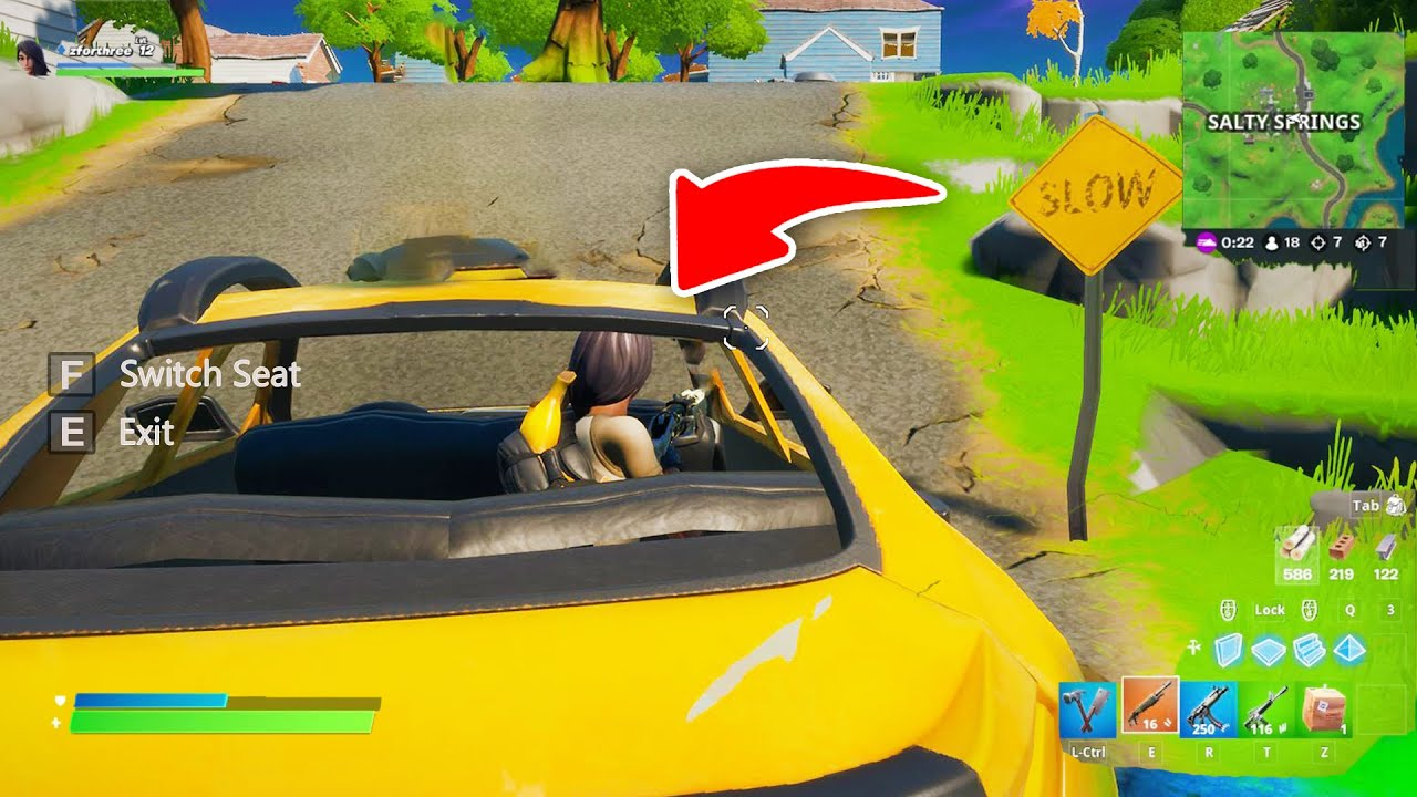 I Found Out How To Get In Cars In Fortnite New Season Youtube
