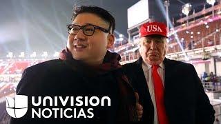 Un Donald Trump y un Kim Jong Un falsos se roban la atención en los Juegos Olímpicos