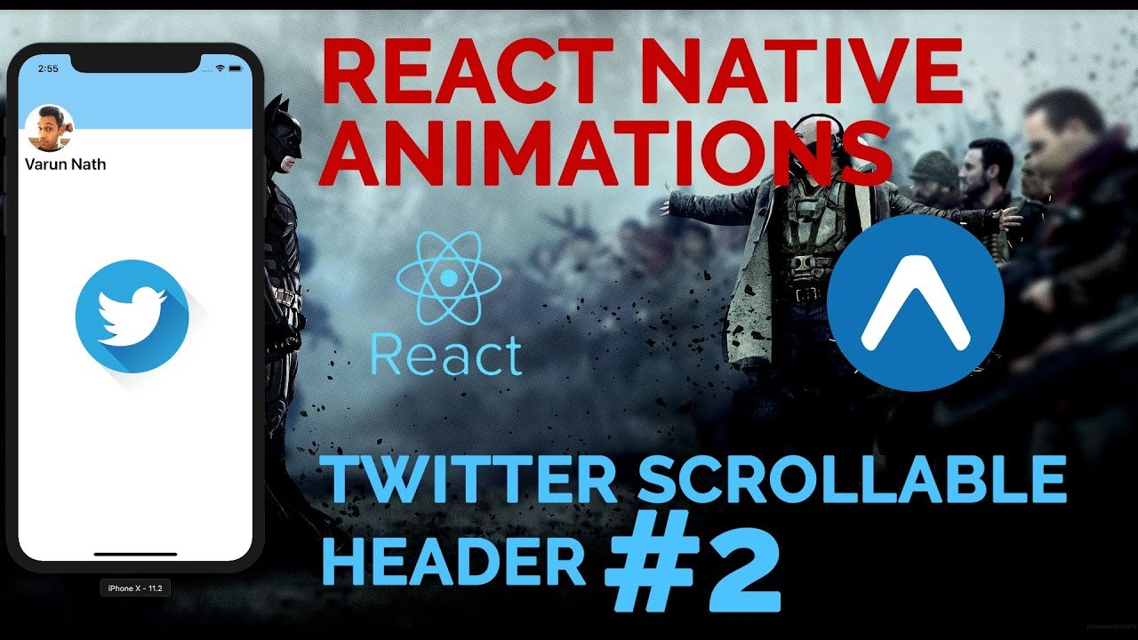 #2 Twitter Scrollable Header Animation | React Native Animations