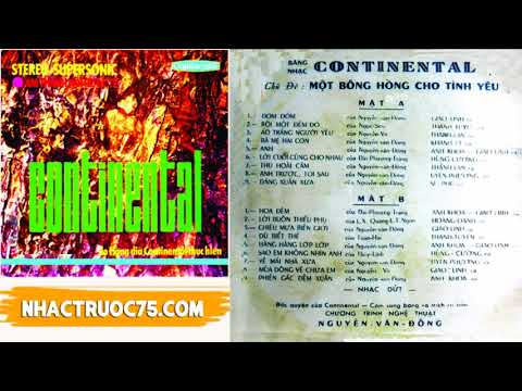 Băng Nhạc Continental 1 - Một Bông Hồng Cho Tình Yêu – Thu Âm Trước 1975
