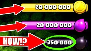 WORLD RECORD! THE MOST DARK ELIXIR EVER SEEN! 🔥 350,000 DARK ELIXIR! 🔥 Clash Of Clans