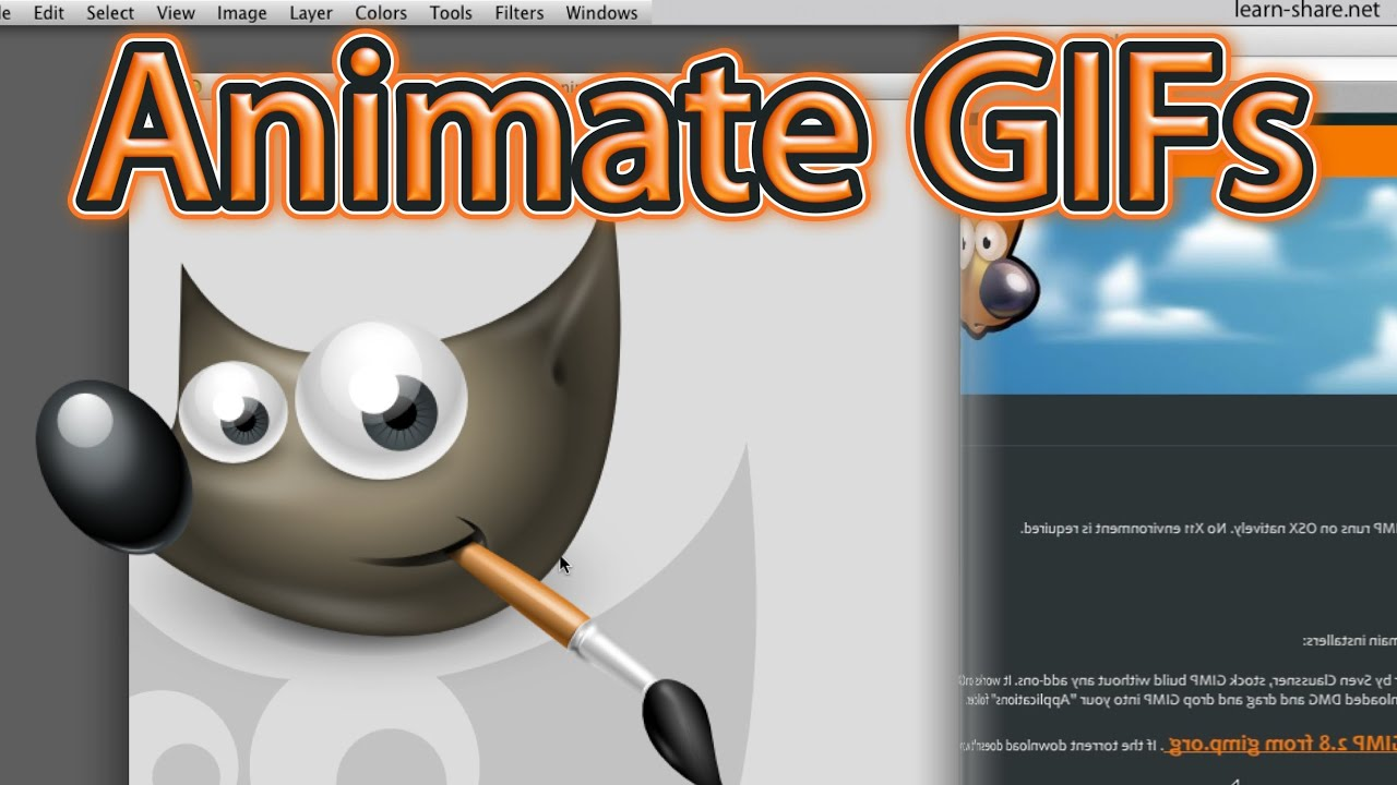 How to Make Animated GIF in GIMP - Most Easy Way! - YouTube