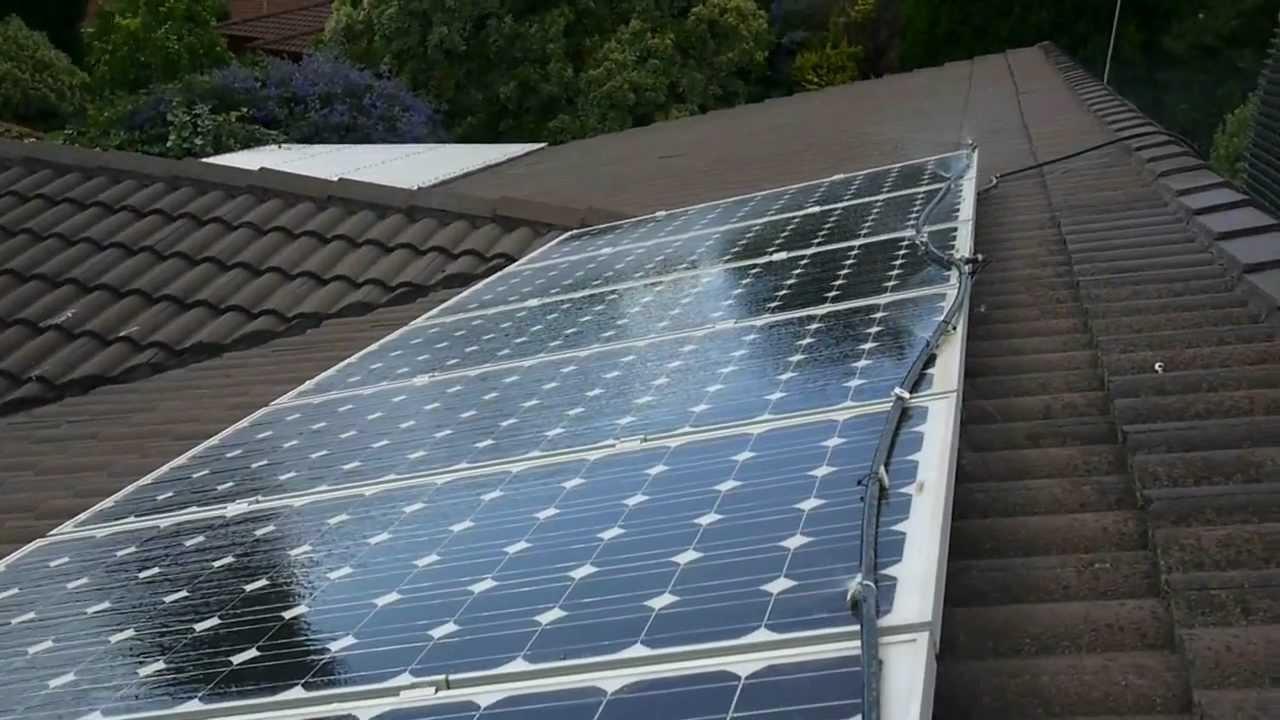 Solar Power Cooler Solar Pv Panel Cooler Operating Youtube