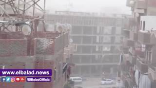 عاصفة رملية وترابية تضرب الفيوم .. فيديو