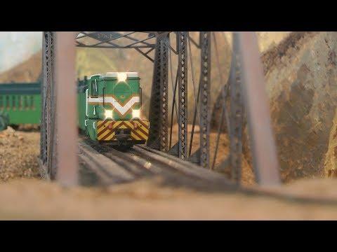 HO Scale Model Railway Layout of Narrow Gauge Rail Transport in Chile