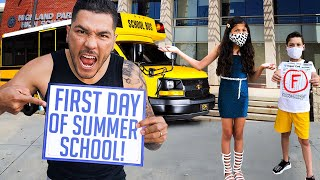 THE FIRST DAY OF SUMMER SCHOOL!!! **UNEXPECTED**