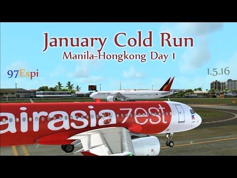 FSX Round Trip Flight Manila to Hongkong 01.05.16 Air Asia Zest A320