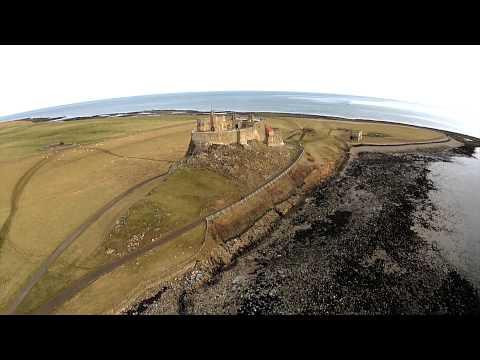 Lindisfarne/holy island dji phantom aerial footage