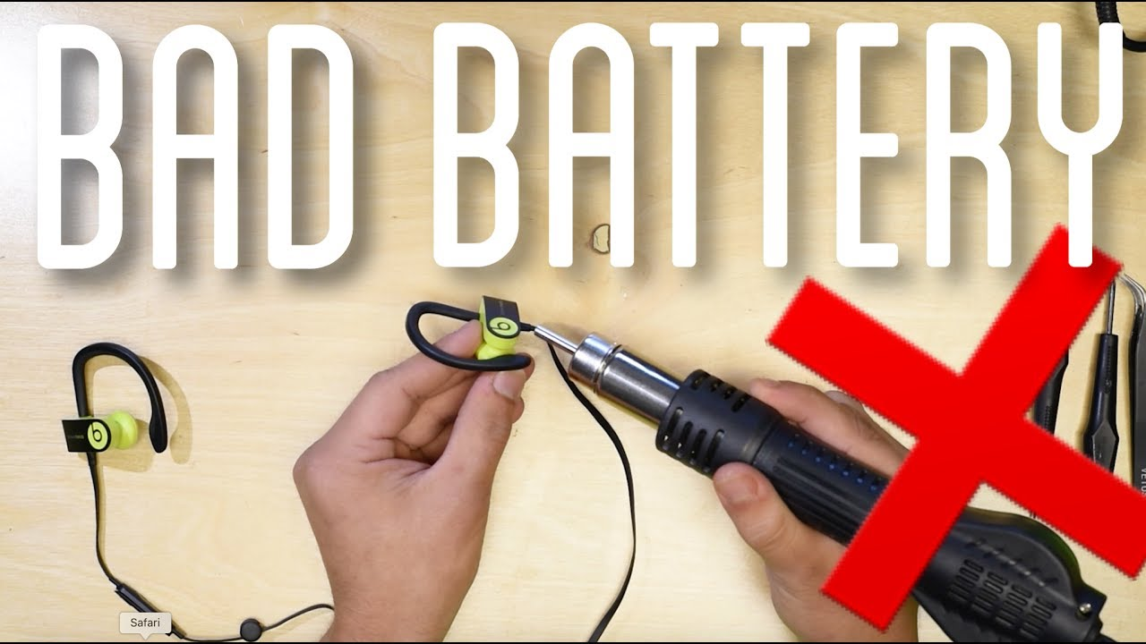 how to repair powerbeats 3 3 0 powerbeats 2 wireless battery repair replace [ 1280 x 720 Pixel ]