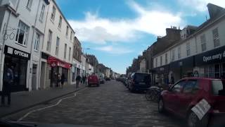 Drive Down South Street Through Town To Golf Course St Andrews Fife Scotland