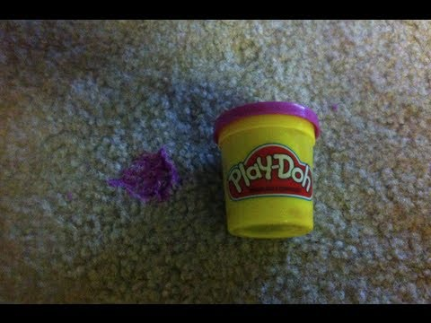 How To Remove Play Doh From The Carpet Youtube