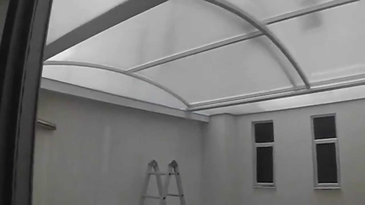 Marquesina en policarbonato youtube for Tipos de toldos para patios