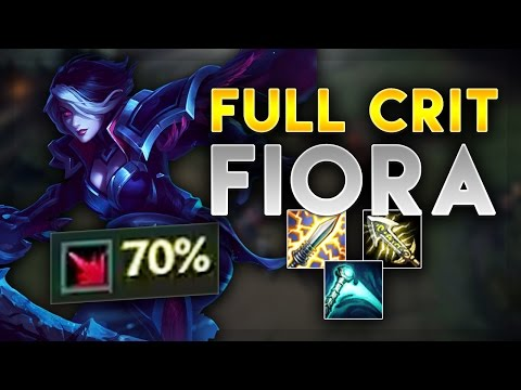 3 SHOT ENTIRE ENEMY TEAM WITH THIS NEW FIORA BUILD! FULL CRIT FIORA TOP - League of Legends