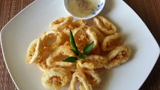 How To Make Crispy Fried Calamari Rings Recipe - Mực Chiên Giòn - Vietnamese Asian Fried Squid