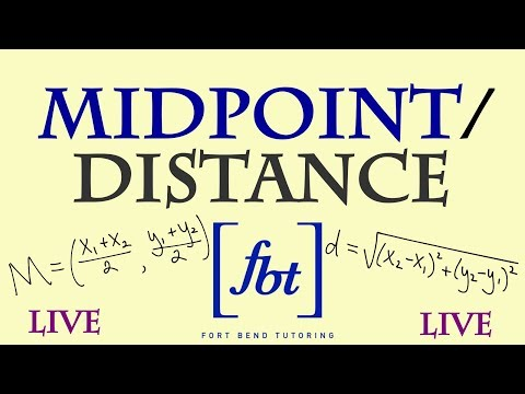 ⚫️ Finding the Midpoint and Distance Between Two Points Live [fbt]