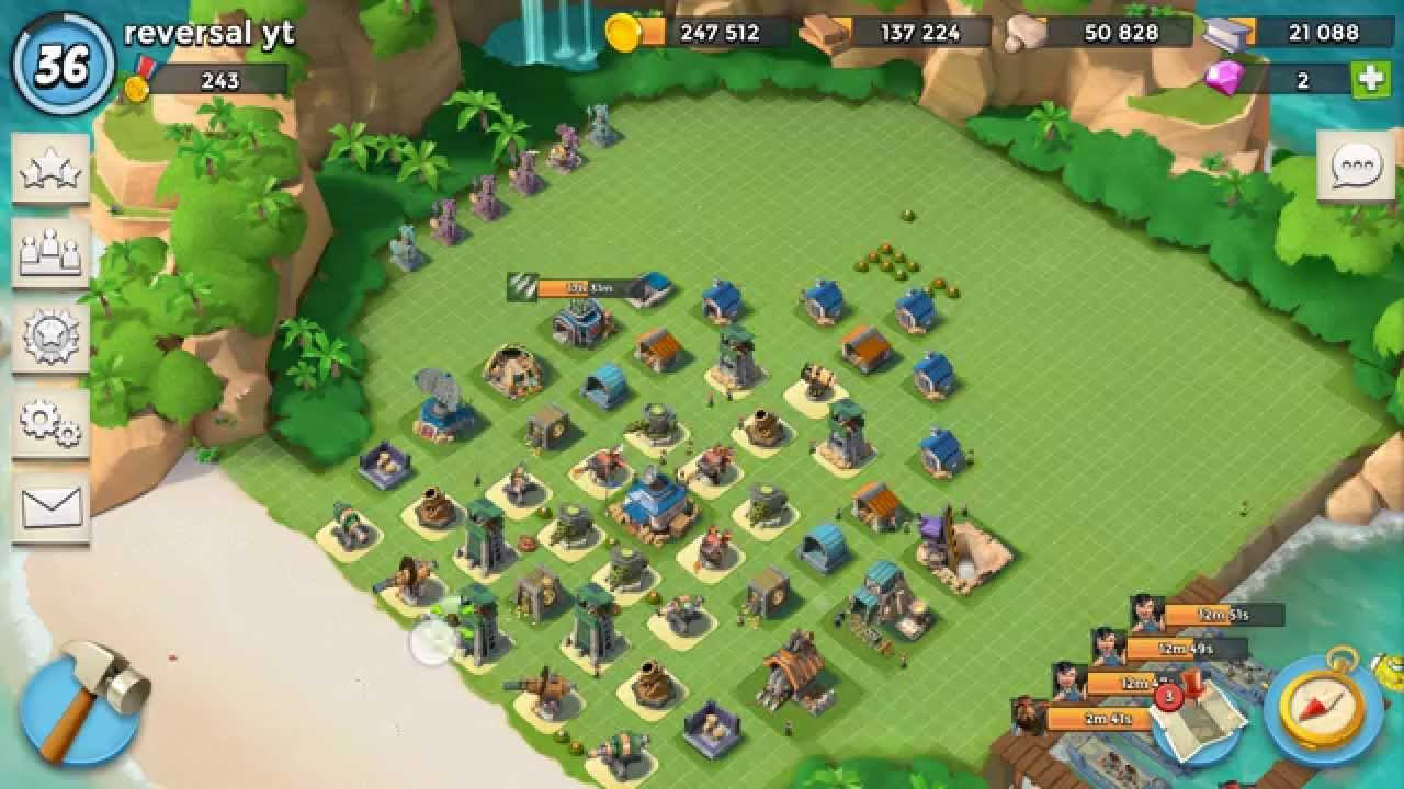 boom beach headquarters level 14 base design - youtube
