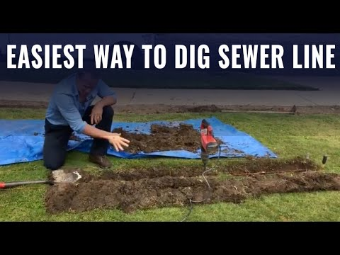 How To Dig A Sewer Line: Fast And Easy