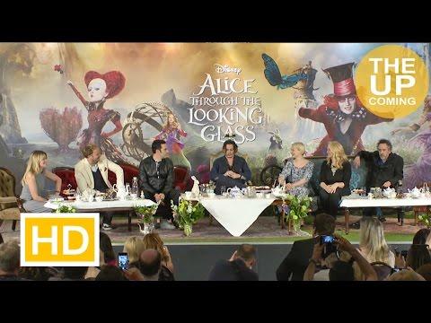 Alice Through the Looking Glass press conference: Johnny Depp, Mia Wasikowska, Sacha Baron Cohen