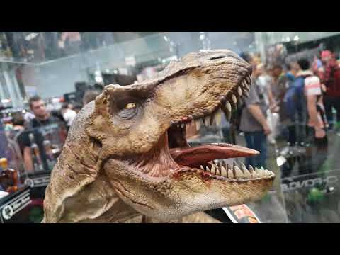 Rotunda T-Rex Statue from Jurassic Park  by Chronicle Collectibles at NYCC 2018