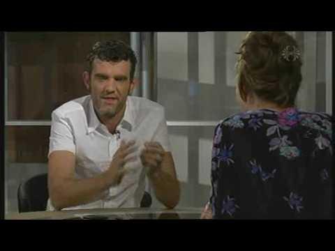 Lazy Town Robbie Rotten breaks glass in interview