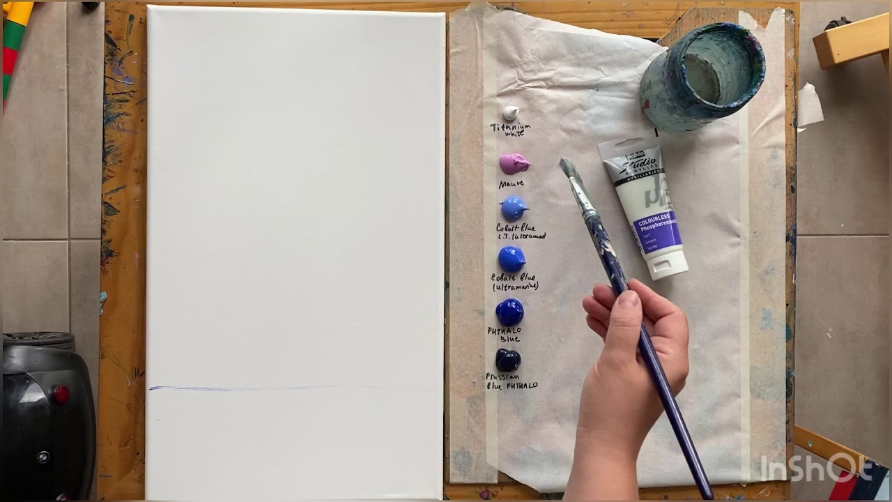 how to paint night glowing in the dark paints