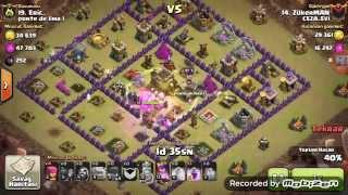 3-Clash of clans golem cadı saldırısı 3 yıldız