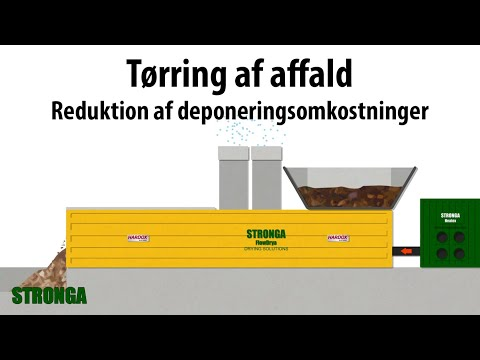 Zero waste to landfill | Drying shredded waste, SRF & RDF with Stronga
