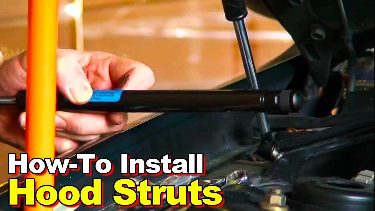 How To Install Hood Struts Youtube