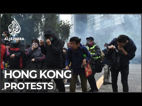 Hong Kong protests: Several arrested as demonstrators defy ban