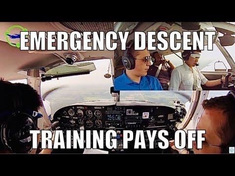 Full Lesson in a PA-34 Piper Seneca featuring: Vmc Demo,Drag demo, Emergency descent.
